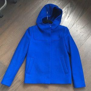 J.Crew wool coat melton hooded bib jacket